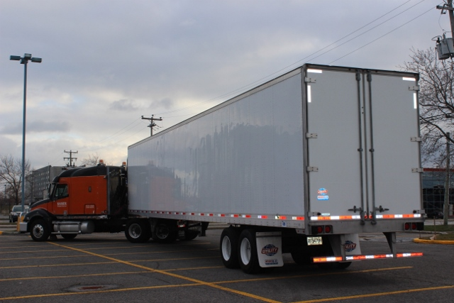 Logistic DryVan Trailer 																			<p>Equipment : 53' Trailer (DryVan / DryBox) – 2 axles; maximum load capacity 45000 Lbs; 26 regular skids;</p> 																			<p>Dimensions – Length 53 feet X Inside Width 99 in X Height 102 in / Suspension – Air Ride;</p> 																			<p>LTL – Less than TruckLoad (Partial Load);</p> 																			<p>FTL – Full Truck Load;</p> 																			<p>Regular skid dimensions: 40 X 48 inches; Maximum standard weight/skid - 1750lbs; Maximum standard freight value/skid – 11500$;</p> 																			<p>PalletJack: maximum load capacity – 5000 Lbs;</p> 																			<p>LoadBar: maximum load capacity – 2000 Lbs;</p> 																	    <p>Used for: Skids, Machinery, Floor Loaded Freight, General Freight, LTL Freight or TruckLoad Freight</p>